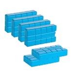 BigDean 6er Set 750 g Kühlakkus - Kühlelemente mit 400 ml - Kühlleistung über 8 std - Für Kühltasche im Campingbereich, Outdoor, Kühlschrank - Made in Europe