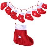 CEPEWA Adventskette mit XXL Socken (18x20cm) - Adventskalender zum Selbstbefüllen