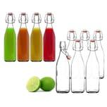 BigDean 6x Glasflasche 500ml Bügelverschluss Milchflasche Saftflasche Ölflasche Bügelverschlussflasche