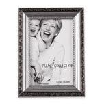 BigDean Retro-Bilderrahmen in Silber-Farben 19x14 cm - Antik-Optik im Vintage-Stil - Innenmaße ca. 10x15 cm - Nostalgischer Fotorahmen für Bilder, Fotos & Postkarten