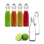 BigDean 2x Glasflasche 500ml Bügelverschluss Milchflasche Saftflasche Ölflasche Bügelverschlussflasche