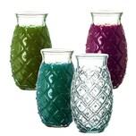 BigDean 4x Trinkgläser im Ananas-Look 700 ml - Made in Spain - Aus 100% Recycling-Glas - Ideale Dekoration für Sommer-Partys - Für Cocktails, Softdrinks, Alkohol, Säfte & andere Getränke