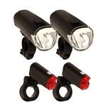 Filmer 2x Beleuchtungsset 30LUX Fahrradbeleuchtung Vorderlicht Rücklicht Fahrradlicht Set