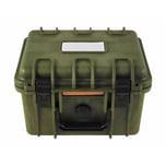 BigDean wasserdichte Box Oliv Grün Kunststoffbox Extra Robuste Kiste Militärkiste Militärbox Armee Kiste 26,7x23,9x17 Bundeswehr