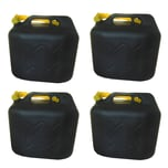 BigDean 4x20L Kraftstoffkanister Benzinkanister Kraftstoff Reserve Kanister UN-Zulassung