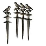 BigDean 4x Gartenschlauch Umlenkrolle Vogel Gusseisen Schlauchführung Rost Braun Gußeisen Gartenschlauchführung