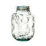 BigDean XXL Drahtbügelglas 4l - 100% recyceltes Glas - 26,5 x 14,5 cm - Made in Spain - Vorratsglas mit Bügelverschluss Lebensmittelglas Vorratsdose Keksglas