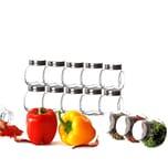 BigDean 12x kleine Gewürzgläser 200 ml mit Schraubdeckel - Gewürzbehälter-Set - Eckige Gewürzgläser aus Glas - Zum Stellen, Legen & Kippen - Luftdicht - Vorratsgläser, Gewürzdosen