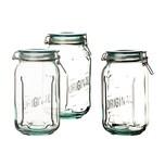 BigDean 3x XL Drahtbügelglas 1,9l - 100% recyceltes Glas - 16 x 12 cm - Made in Spain - Vorratsglas mit Bügelverschluss Lebensmittelglas Vorratsdose Bügelglas