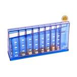 BigDean Euro Münzsortierer Spardose blau 24 cm - abschließbar mit Schlüssel - Münzzähler Geldsortierer Münzsammler Geld-Zähler für Kleingeld und Scheine
