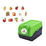 BigDean Vorratsdose für Kartoffeln, Gemüse, Obst, Zwiebeln, Aufbewahrungsbox, Kunststoff, Volumen ca 7,7 Liter, inkl 12 Sticker