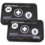 Petex 2 Stück KFZ Verbandtasche schwarz Neufassung DIN 13164-B Auto PKW Verbandkasten Erste Hilfe Set
