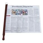 BigDean Zeitungshalter Zeitungsstock Pronto Nussbaum dunkel max. 60cm Einspannlänge