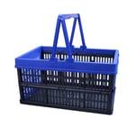 ALPFA Einkaufskorb 16L mit Henkel klappbar Kiste Box Einkaufskiste Einkaufsbox