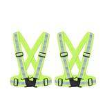 BigDean 2x Reflektorweste Kinder Sicherheitsweste Warnweste reflektierende Weste Sport & Freizeit DIN EN 13356