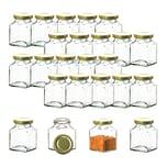 BigDean 24x Einmachgläser 200 ml - Made in Germany - Gläschen mit Schraub-Deckel - Mini Einmachgläser - Honiggläser - Probiergläser für Gastgeschenke & Hochzeit