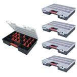 BigDean 5 Stück XXL Sortimentskasten 46 x 32 x 8 cm 5 - 26 Fächer Organizer Kleinteilemagazin Schraubenbox Werkzeugkasten