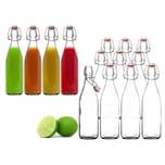 BigDean 10x Glasflasche 500ml Bügelverschluss Milchflasche Saftflasche Ölflasche Bügelverschlussflasche