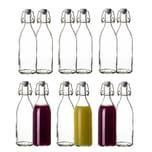 BigDean 12x Glasflaschen mit Bügelverschluss 500ml - Hochwertige Qualität Made in Germany - Bügelflaschen Likörflaschen Einmachflaschen Flaschen zum Befüllen & Einkochen
