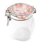 Bormioli Rocco Drahtbügelglas Fido 750 ml quadratisch Einmachglas Dessertglas Vorspeisenglas Einkochglas