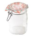 Bormioli Rocco Drahtbügelglas Fido 1000 ml quadratisch Dessertglas Vorspeisenglas Einkochglas