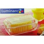 Luminarc Butterdose aus Glas - für 250 g Butter - hochwertiges und starkes Glas
