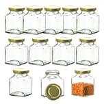 BigDean 12x Einmachgläser 200 ml - Made in Germany - Gläschen mit Schraub-Deckel - Mini Einmachgläser - Honiggläser - Probiergläser für Gastgeschenke & Hochzeit