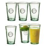BigDean 6x Trinkgläser Tumbler 300 ml - Made in Spain - Aus 100% Recycling-Glas - Dicke Glasstärke 0,4 cm - Für Cocktails, Softdrinks, Alkohol, Säfte & andere Getränke