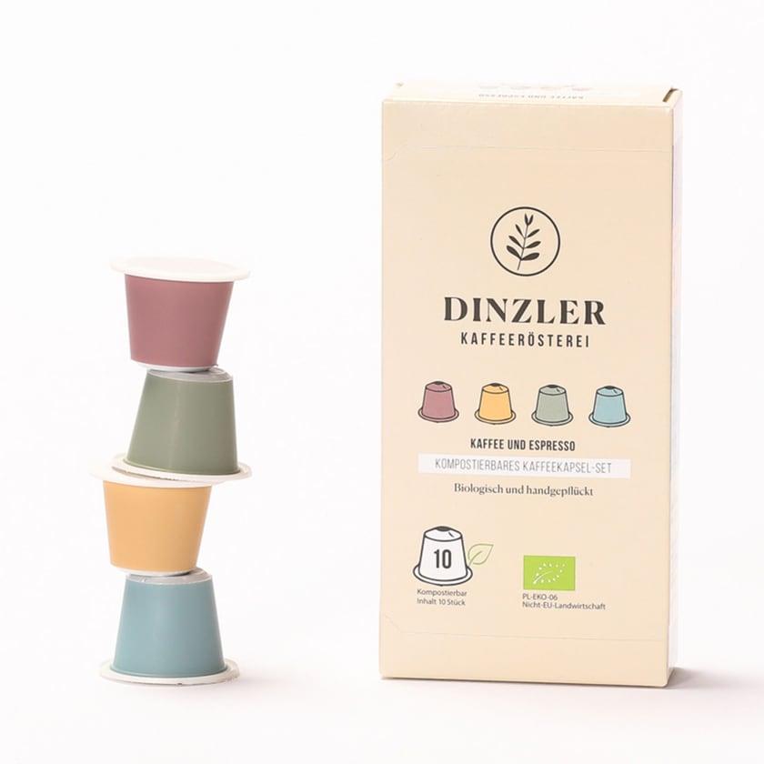 Dinzler Kaffeerösterei Probierpaket Bio Kaffeekapsel (10 Stück)