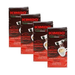 Kimbo Napoletano Gemahlen Vakuumverpackt 4 x 250g (1kg)