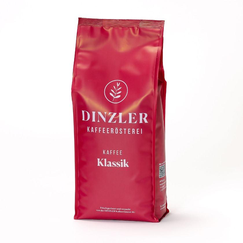 Dinzler Kaffeerösterei Kaffee Klassik Ganze Bohnen 1kg