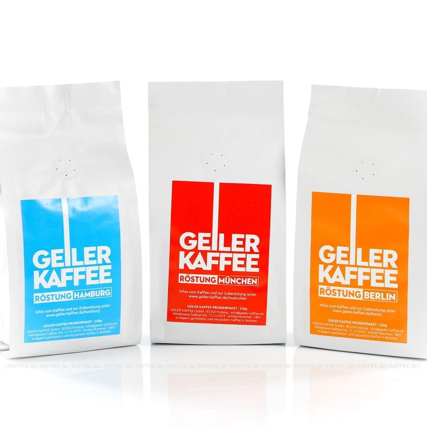 Probierpaket GEILER KAFFEE 3 x 20 ESE Pads alle Sorten