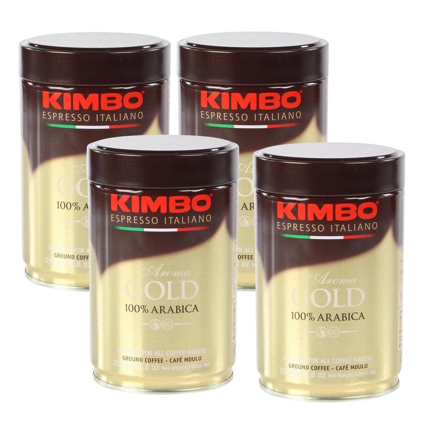 Kimbo Gold Espresso 100% Arabica, gemahlen, 1kg (4 x 250g)