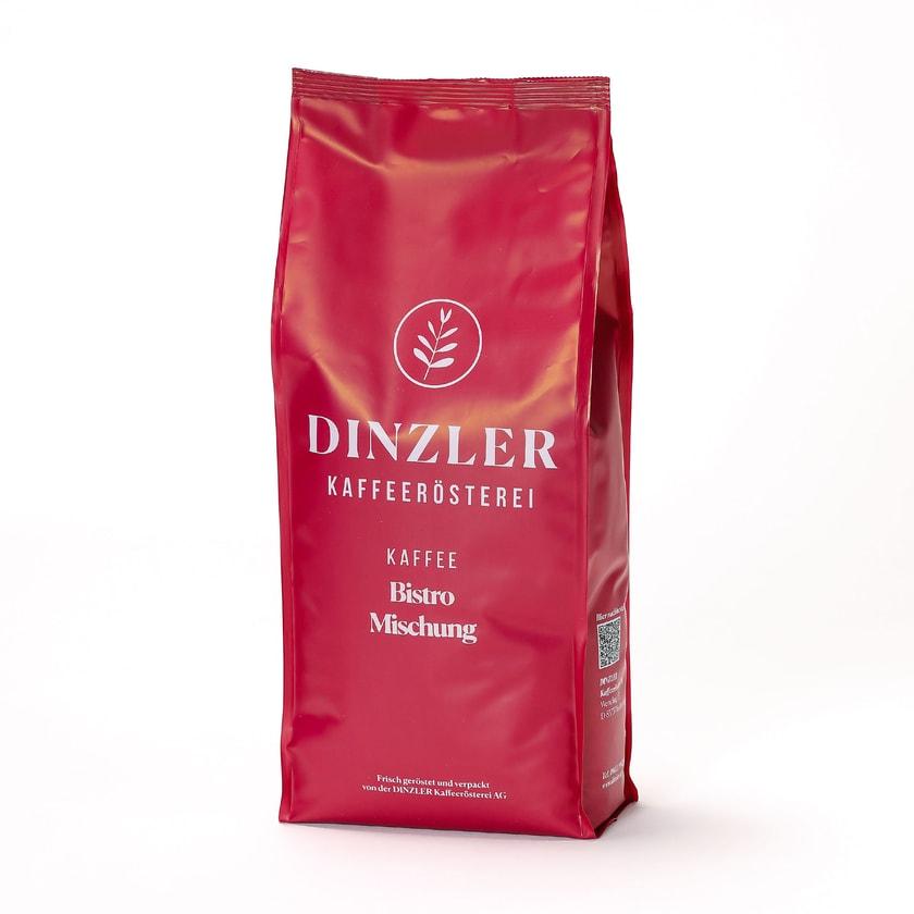 Dinzler Kaffeerösterei Bistro Mischung Ganze Bohne 1kg