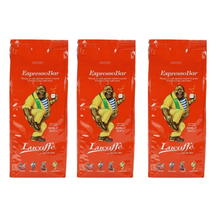 Lucaffe Espresso Bar, ganze Espresso Bohnen, 3kg (3 x 1kg)