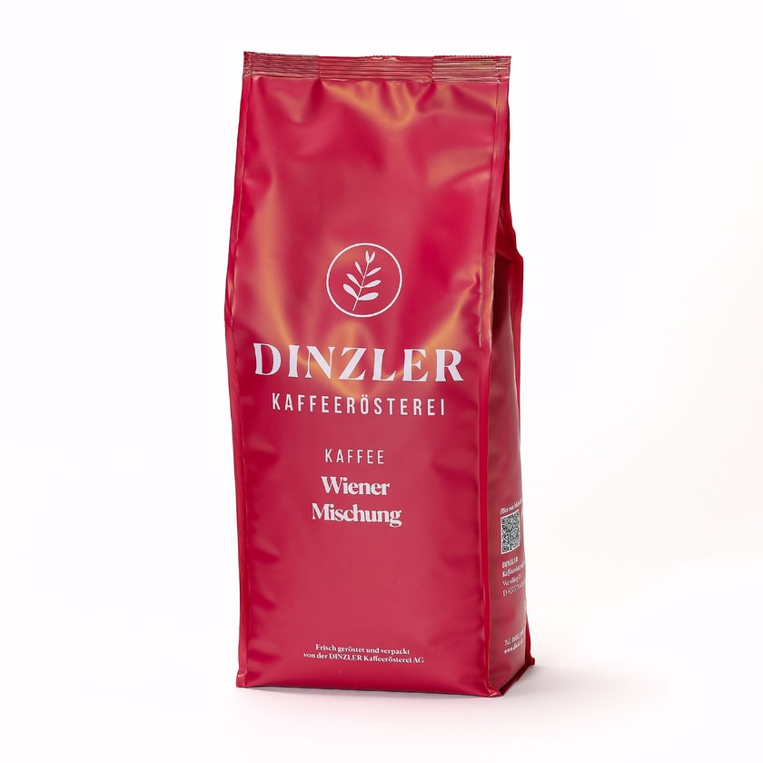 Dinzler Kaffeerösterei Wiener Mischung Ganze Bohne 1kg