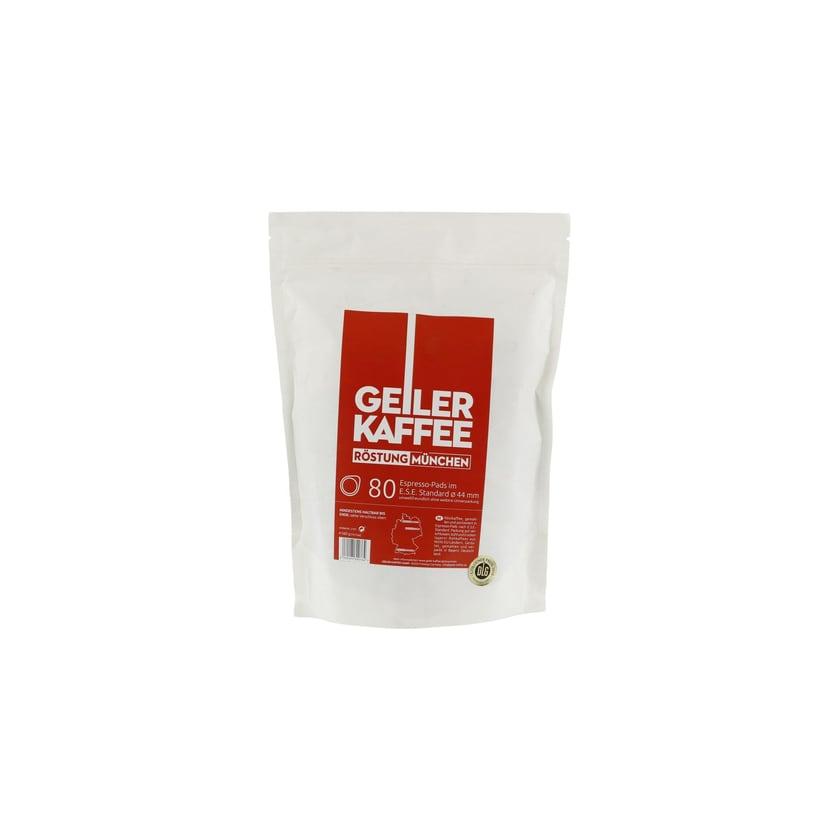 GEILER KAFFEE Röstung München - 80 ESE Pads ohne Alu-Umverpackung