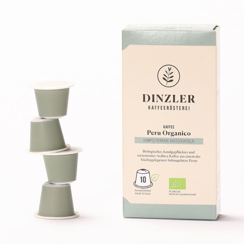 Dinzler Kaffeerösterei Bio Kaffeekapseln Peru Organico (10 Stück)