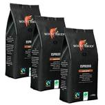 Mount Hagen Espresso Fairtrade Naturland Ganze Bohne 1kg (3 x 1kg)