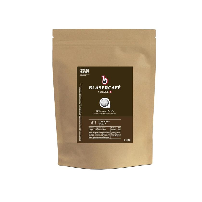 Blasercafe Marrone Ese Espressopads 20 Stück Im Vorratsbeutel
