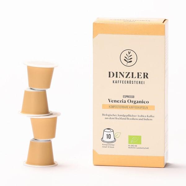 Dinzler Kaffeerösterei Bio Espressokapseln Venezia Organico (10 Stück)
