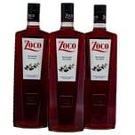 Zoco Licor Pacharan Schlehenlikör 3x1l