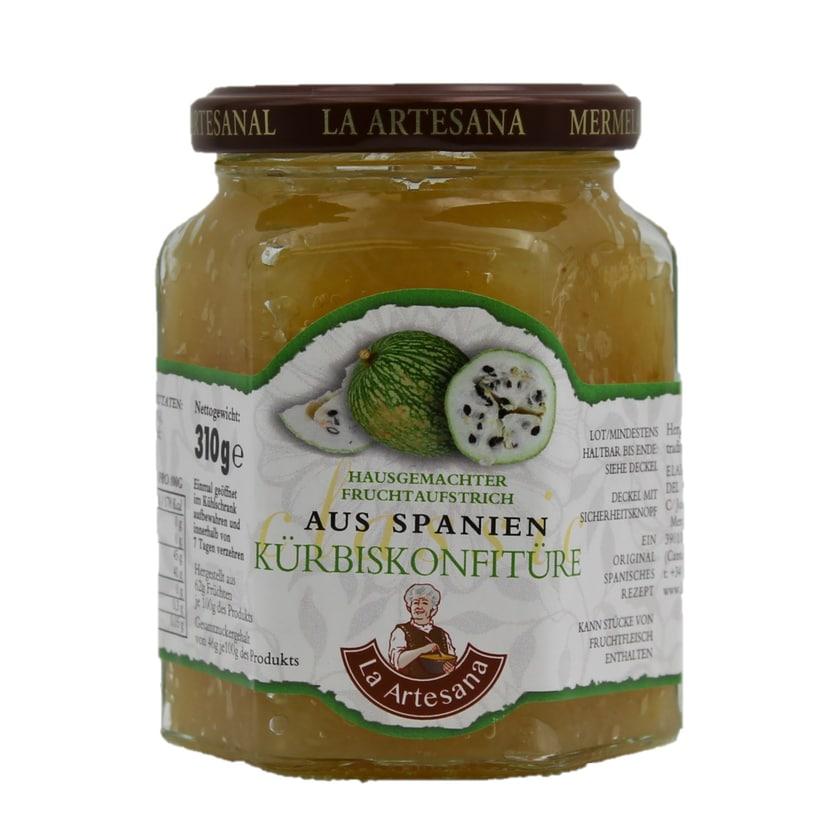 La Artesana Hausgemachter Fruchtaufstrich Kürbiskonfitüre 310g