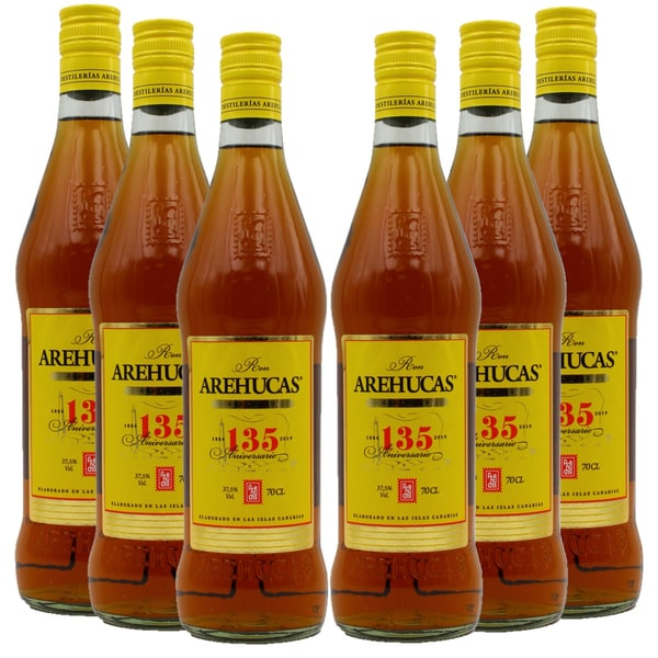 Arehucas Carta Oro Ron Dorado Rum 6 x 700ml, 4.200ml