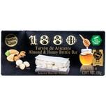 1880 Turron de Alicante Almond & Honey Brittle Bar harte Mandeltafel mit Honig 150g