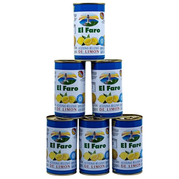El Faro Oliven gefüllt mit Limonenpaste 6 x 150g, 900g