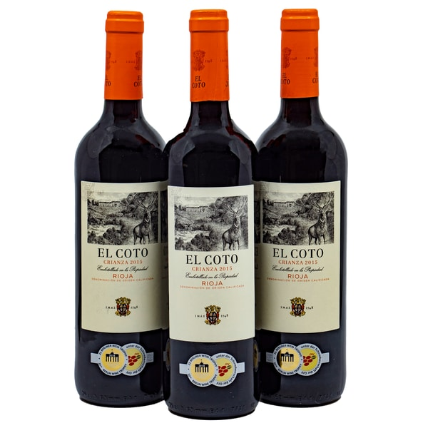 El Coto Crianza Rioja Rotwein 3 x 0,75l, 2,25l