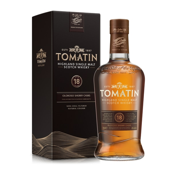 Tomatin Highland Single Malt Whisky 18 Jahre 0,7l