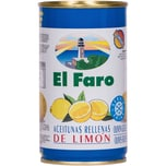 El Faro Oliven gefüllt mit Limonenpaste 150g
