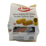 El Lobo Porciones Turron de Jijona Weiche Mandelnougattafel mit Honig einzeln verpackt 160g